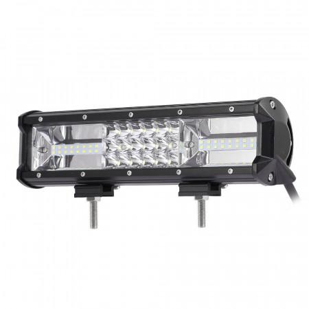 """LED Bar Auto 162W, leduri pe 3 randuri, 12V-24V, 11340 Lumeni, 12""""/30,5 cm, Combo Beam 12/60 Grade"""