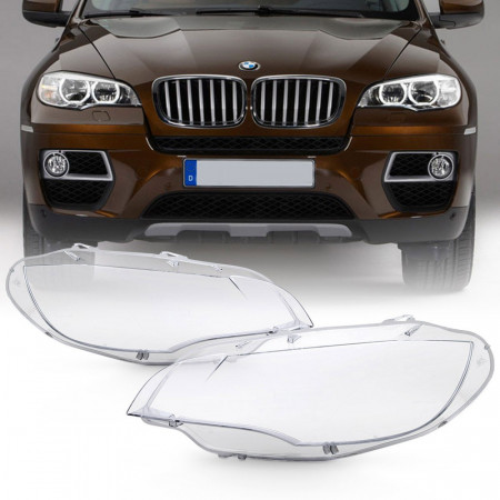 Set 2 sticle faruri pentru BMW X6 E71 (2008 - 2014) - HB080