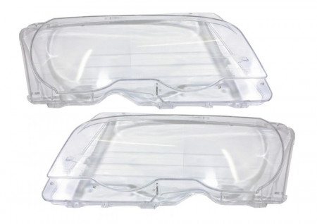 Set 2 sticle faruri pentru BMW Seria 3 E46 Coupe / Cabrio Non Facelift (1998 - 2003) - HB010