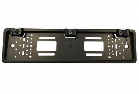 Sistem de parcare 2 in 1 pe suport de numar cu camera de marsarier si 2 senzori de parcare incorporati CS425