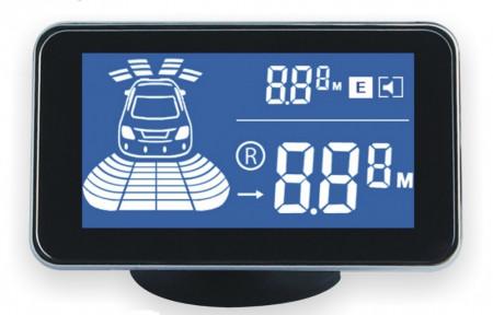 Senzori parcare fata spate cu temporizare cu 8 senzori si display LCD KC-6000J