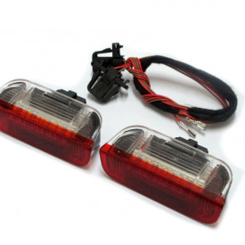 Lampi cu LED Portiera Fata VW, SEAT, SKODA Alb/Rosu - BTLL-060