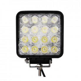 Proiector LED Auto Offroad 4D 48W/12V-24V, 3520 Lumeni, Patrat, Spot Beam 30 Grade