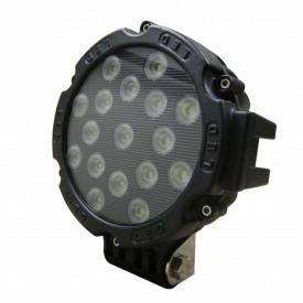 Proiector LED Auto Offroad 51W/12V-24V, 3740 Lumeni, Negru, Spot Beam 30 Grade