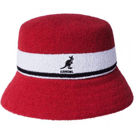 Kangol-palarie-bermuda-stripe-bucket-rosu
