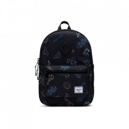 Herschel-rucsac-pentru-copii-heritage-asphalt-chalk-negru-16L
