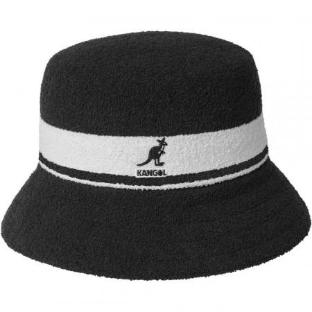 Kangol-palarie-bermuda-stripe-bucket-negru