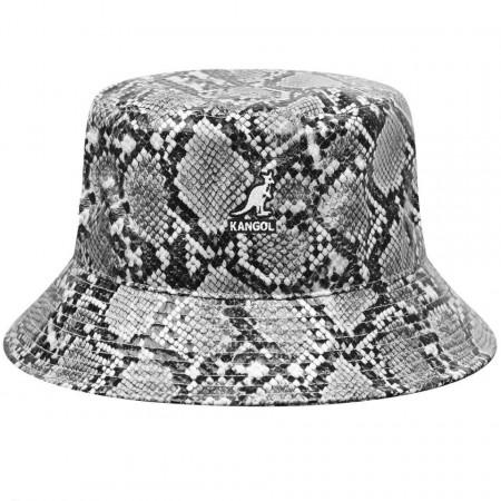 Kangol, Palarie snakeskin bucket negru