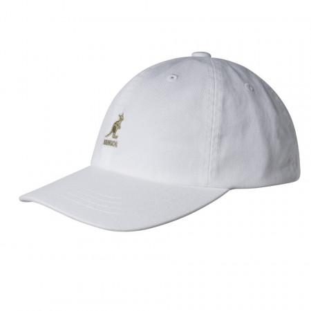 Kangol-sapca-alba-washed-cotton-adjustable-baseball