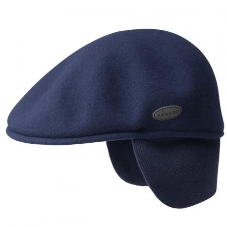 Basca-Kangol-Wool-504-Earlap-Bleumarin