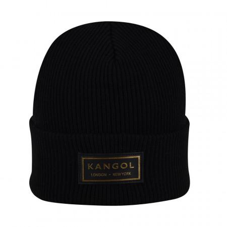 Kangol-caciula-neagra-gold-beanie