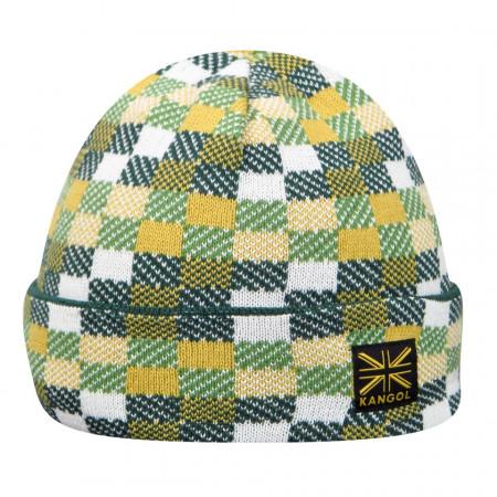 Kangol-caciula-verde-pixel-reversible