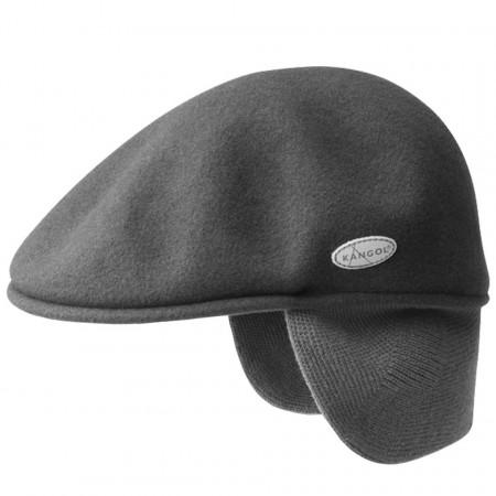 Basca-Kangol-Wool-504-Earlap-Gri-Inchis
