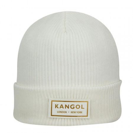 Kangol-caciula-alba-gold-beanie