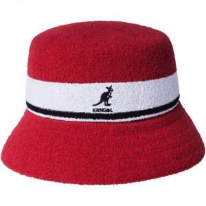 Kangol, Palarie bermuda stripe bucket rosu