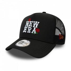 New Era, Sapca cu capsa pe partea din spate si logo New Era Rose, Negru
