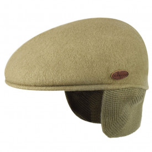Basca Kangol Wool 504 Earlap, Taupe