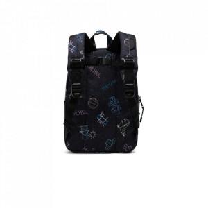 Herschel-rucsac-gradinita-heritage-asphalt-chalk-negru-9L-4