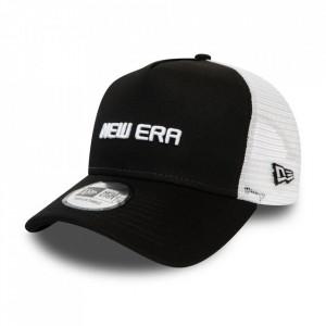 New Era, Sapca cu capsa pe partea din spate si logo New Era, Negru