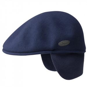Basca Kangol Wool 504 Earlap, Bleumarin