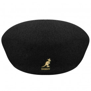 Kangol-Basca-neagra-Wool-504-auriu-4