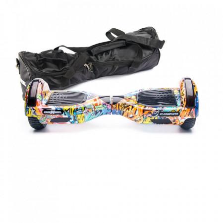 Scooter Electric (Hoverboard) Freewheel F1 Complete - Graffiti Albastru Husa Cadou Autonomie 15 km Viteza 15 km/h Motor 2 x 350W Brushless
