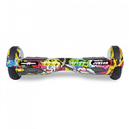 Scooter electric (hoverboard) Freewheel Junior - Graffiti galben Autonomie 20 km Viteza 12 km/h Motor 2 x 250W Brushless