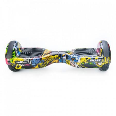 Scooter Electric (Hoverboard) Freewheel SMART - Graffiti Galben Autonomie 20 km Viteza 16 km/h Motor 2 x 350W Brushless