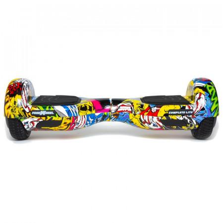 Complete Lite Galben - Scooter (Hoverboard) Freewheel - Autonomie 8-12 Km, Bluetooth, LED-uri, Difuzor Audio, 2x200w