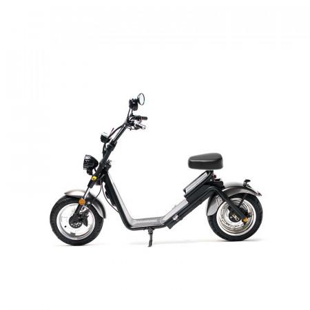 MotoRo S1 - Moped Electric FreeWheel, Autonomie 40 Km Viteza 45 Km/h Omologat RAR Motor 1200 W, Negru / Gri