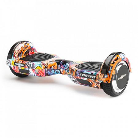Scooter Electric (Hoverboard) Freewheel Complete Graffiti Albastru + Geanta 6.5 inch Cadou - Autonomie 15 Km 15 Km/h Bluetooth LED-uri Boxe Motor 2 x 350W