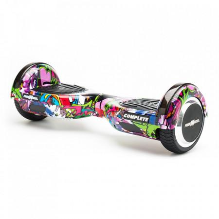 Scooter Electric (Hoverboard) Freewheel Complete Graffiti Mov + Geanta 6.5 inch Cadou - Autonomie 15 Km 15 Km/h Bluetooth LED-uri Boxe Motor 2 x 350W