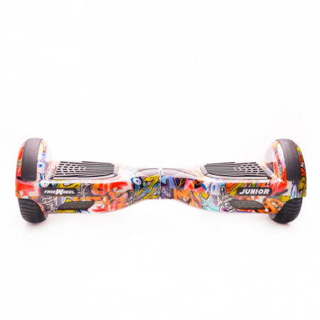 Scooter electric (hoverboard) Freewheel Junior - Graffiti Albastru Husa Cadou Autonomie 20 km Viteza 12 km/h Motor 2 x 250W Brushless