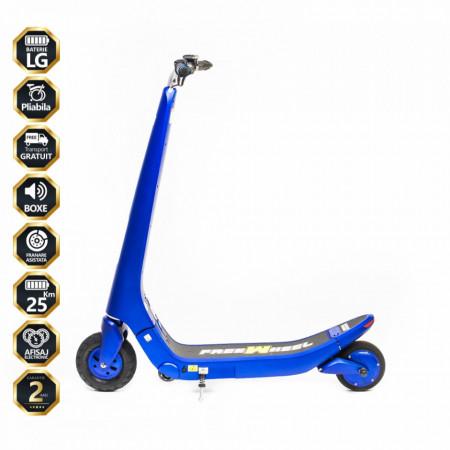 Trotineta Electrica Freewheel Rider Trends - Albastru Autonomie 20-30 km Viteza 25 km/h Motor 250W Brushless