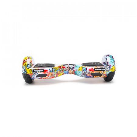 Junior Lite - Scooter Electric (Hoverboard) Freewheel - Graffiti Albastru Autonomie pana la 12 km Viteza 12 km/h, Motor 2 x 200W Brushless