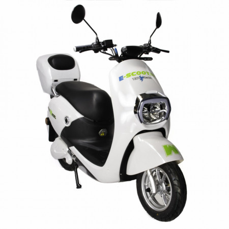 E-Scooter Mine Plus - Moped Freewheel, Omologat R.A.R, Motor Bosch 800W, Autonomie pana la 70Km, Viteza maxima 45Km/h, Alb