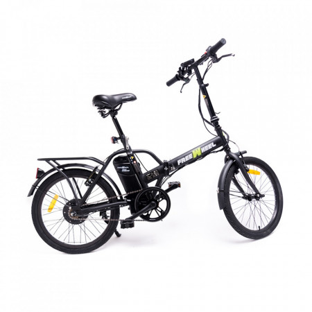 Produs Resigilat - Bicicleta Electrica FreeWheel EBike Urban Negru - Autonomie 20-25km Viteza 25km/h Motor 250W