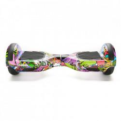 Scooter electric (hoverboard) Freewheel - Graffiti mov Autonomie 20 km Viteza 12 km/h Motor 2 x 350W Brushless