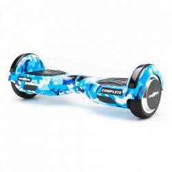 Scooter Electric (Hoverboard) Freewheel Complete Camuflaj Albastru + Geanta 6.5 inch Cadou - Autonomie 15 Km 15 Km/h Bluetooth LED-uri Boxe Motor 2 x 350W