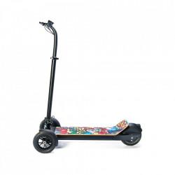 Trotineta Electrica FreeWheel Freeboard - Graffiti Galben Autonomie 30 km Viteza 30 km/h Motor 450W Brushless