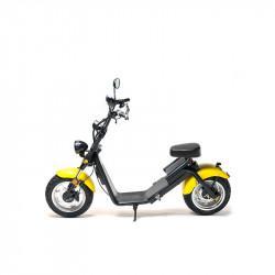 MotoRo S1 - Moped Electric FreeWheel, Autonomie 40 Km Viteza 45 Km/h Omologat RAR Motor 1200 W, Negru / Galben