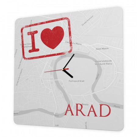 "Ceas de perete ""Iubesc Aradul"", 40cm"