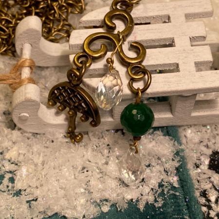 Loving rain - pandantiv cu piatra de jad (unicat)