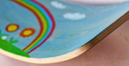 Balance board curbat, 100x30cm, personalizat, pentru copii