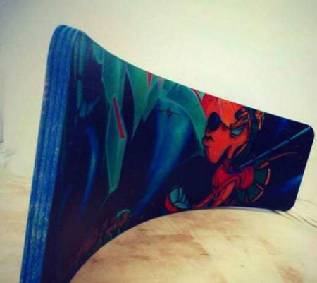 Balance board curbat, 100x30cm, personalizat, copii