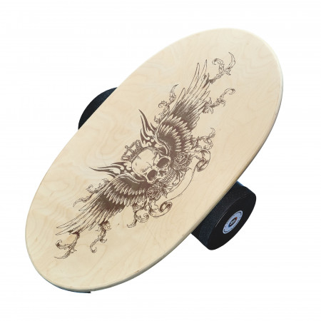 Balance Board cu cilindru, 74x38cm, Skull Wings
