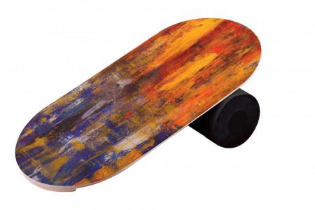 Balance Board cu cilindru, 74x38cm, Grunge