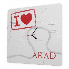 Ceas de perete Iubesc Aradul, 40cm