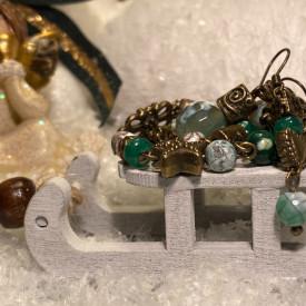 Happy snowflakes - set din jad (unicat)