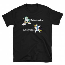 "Tricou ""Before wine, After wine"""